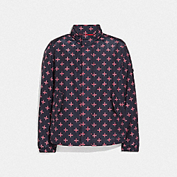 COACH F69029 - PRINTED BARRACUDA JACKET RED CROSS PRINT