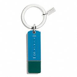 COACH F69036 Colorblock 8gb Usb Key Ring SILVER/DARK PLUME/IVY