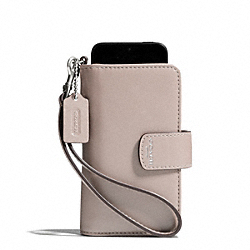 BLEECKER LEATHER PHONE WRISTLET - f69038 -  SILVER/GREY BIRCH