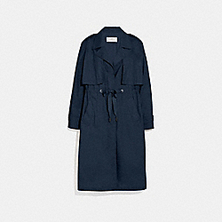 COACH F69042 Lightweight Overcoat NAVY