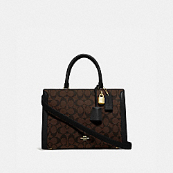 COACH F69075 - ZOE CARRYALL IN SIGNATURE CANVAS IM/BROWN/BLACK