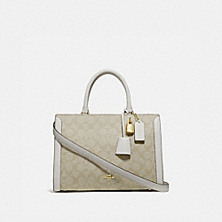 COACH F69075 Zoe Carryall In Signature Canvas LIGHT KHAKI/CHALK/IMITATION GOLD