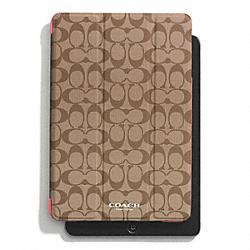 COACH F69078 Peyton Signature Ipad Mini Trifold Case KHAKI/CORAL