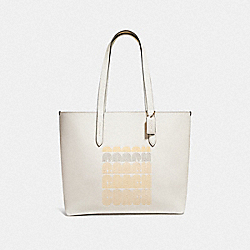 COACH F69115 Highline Tote With Coach Print GD/CHALK