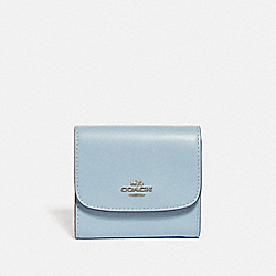 COACH F69124 - SMALL WALLET CORNFLOWER/SILVER