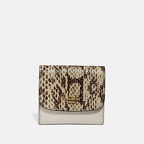 COACH F69125 SMALL WALLET CHALK-MULTI/IMITATION-GOLD