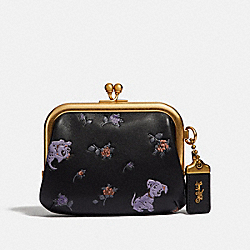 DISNEY X COACH KISSLOCK FRAME POUCH WITH DISNEY MOTIF - B4/BLACK - COACH F69186