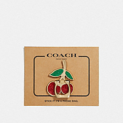 COACH F69230GDE1L Cherry Phone Grip MULTI/GOLD