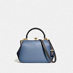 COACH F69534 - FRAME BAG 23 IN COLORBLOCK B4/SLATE