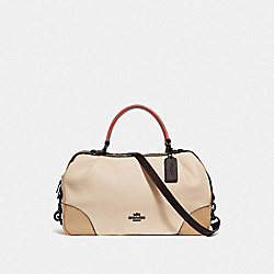 COACH F69622 Lane Satchel In Colorblock With Snakeskin Detail V5/IVORY MULTI