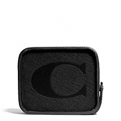 COACH F69702 Lexington Saffiano Coin Bank BLACK
