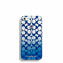 COACH F69729 Peyton Ombre Print Molded Iphone 5 Case PORCELAIN BLUE
