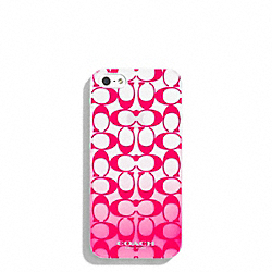 COACH F69729 Peyton Ombre Print Molded Iphone 5 Case POMEGRANATE