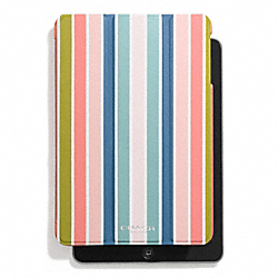 COACH F69736 Peyton Multistripe Trifold Ipad Mini Case