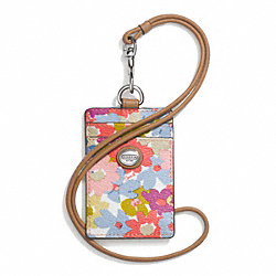 COACH F69802 - PEYTON FLORAL LANYARD ID ONE-COLOR