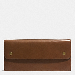 COACH F69897 Bleecker Leather Travel Organizer FAWN