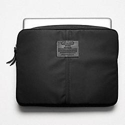 VARICK NYLON LAPTOP SLEEVE - SILVER/BLACK - COACH F70130