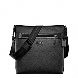 COACH F70267 Op Art Coated Canvas Crossbody Satchel