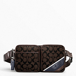 COACH F70337 - HERITAGE STRIPE HIP BAG ONE-COLOR