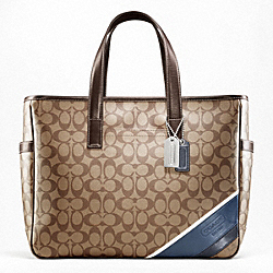 COACH F70395 Heritage Stripe Business Tote