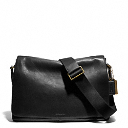 COACH F70486 Bleecker Leather Courier Bag BLACK