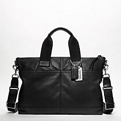 COACH F70490 Thompson Leather Urban Commuter SILVER/BLACK