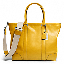 COACH F70600 Bleecker Legacy Leather Business Tote SILVER/SQUASH