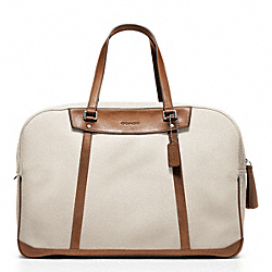 COACH F70645 - BLEECKER CANVAS TRAVEL DUFFLE ONE-COLOR