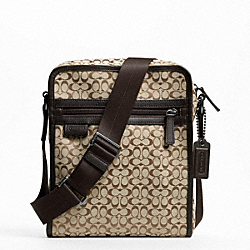COACH F70698 Signature Jacquard Flight Bag