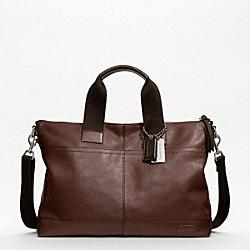 COACH F70733 - THOMPSON LEATHER PERFORATED URBAN COMMUTER ONE-COLOR
