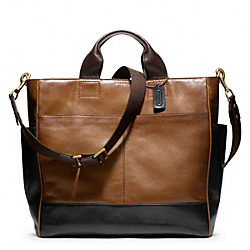 COACH F70745 Bleecker Leather Colorblock Utility Tote