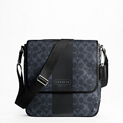 COACH F70757 - COACH HERITAGE STRIPE MAP BAG SVAF5