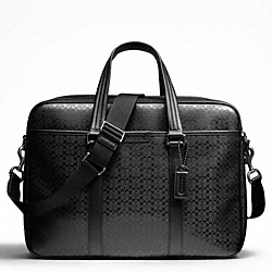 COACH F70766 Heritage Signature Embossed Pvc Commuter