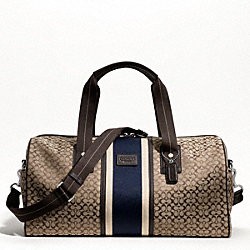 COACH F70770 - SIGNATURE JACQUARD STRIPE ROLL DUFFLE ONE-COLOR