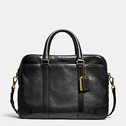 COACH BLEECKER LEATHER COMMUTER - BLACK - F70777