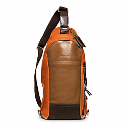 COACH BLEECKER LEATHER COLORBLOCK CONVERTIBLE SLING - ONE COLOR - F70796