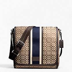 COACH F70806 Signature Jacquard Stripe Map Bag
