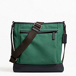 COACH F70820 Camden Canvas Zip Top Crossbody GM/GREEN
