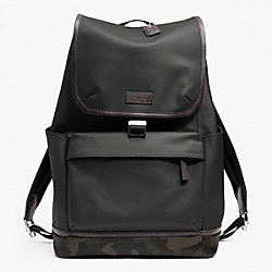 COACH F70822 Heritage Signature Embossed Pvc Canvas Backpack