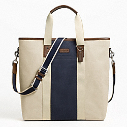 HERITAGE WEB CANVAS PIECED STRIPE TOTE - f70825 - F70825SNANV