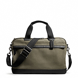 COACH F70831 - CAMDEN CANVAS ZIP TOP BRIEF GUNMETAL/FATIGUE/BLACK
