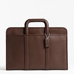 COACH F70847 Lexington Leather Top Handle Portfolio SILVER/MAHOGANY