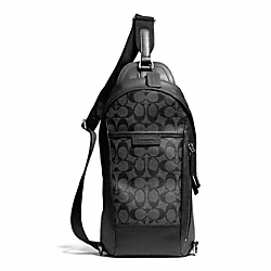 COACH F70858 Bleecker Signature Convertible Sling Pack GMBFS