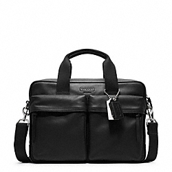 COACH F70859 - THOMPSON LEATHER  SLIM COMMUTER BLACK