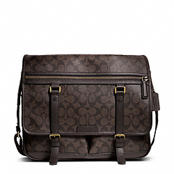COACH F70868 - BLEECKER MESSENGER IN SIGNATURE  BRASS/MAHOGANY/BROWN