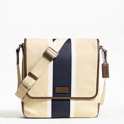 COACH F70885 - HERITAGE WEB CANVAS PRINTED STRIPE MAP BAG ONE-COLOR