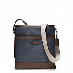 COACH F70890 Bleecker City Canvas Crossbody SILVER/DENIM
