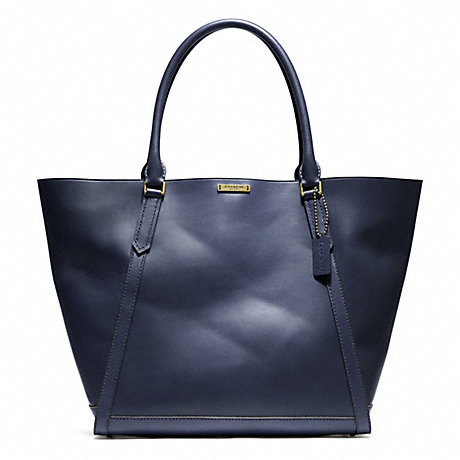 COACH F70895 BLEECKER LEATHER FULTON TOTE BRASS/INDIGO