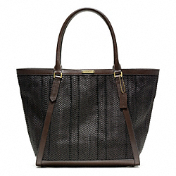 COACH F70907 Bleecker Woven Leather Fulton Tote