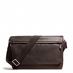 COACH F70924 Camden Leather Messenger GUNMETAL/MAH/DARK MAHOGANY